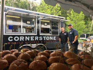 Keith & Rich catering from Cornerstone Restaurant Group