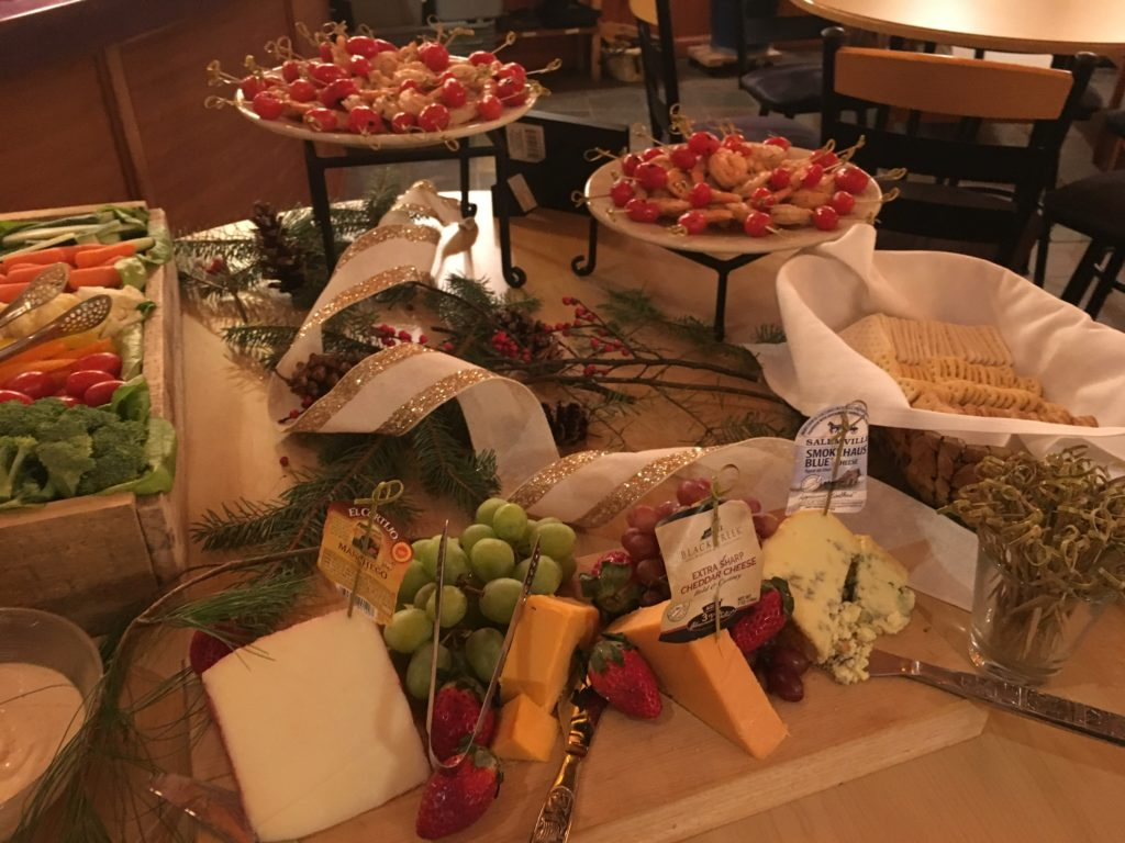 fresh tracks winery event catering display